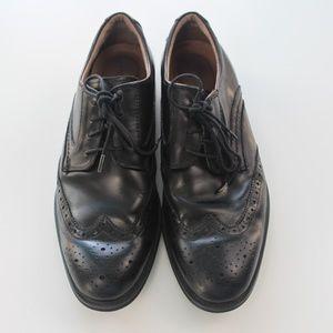 Florsheim Men's Network Black Wing Tip Shoe